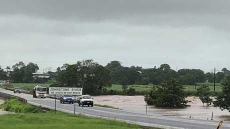 Moderate Flood Warning for Johnstone River, Innisfail. PHOTO: Allan Sloan