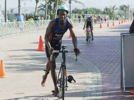 South African triathlete Mhlengi Gwala