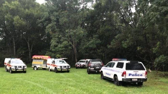 Emergency services on the scene. Courtesy WIN News Sunshine Coast.