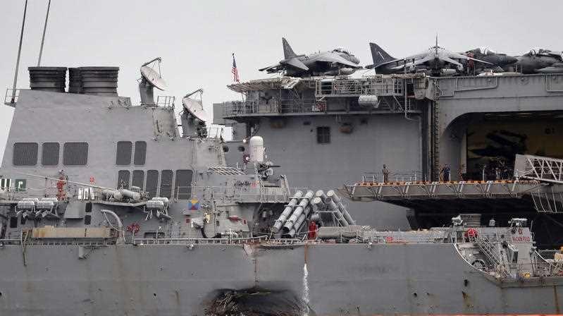 Guided-missile destroyer USS John S. McCain
