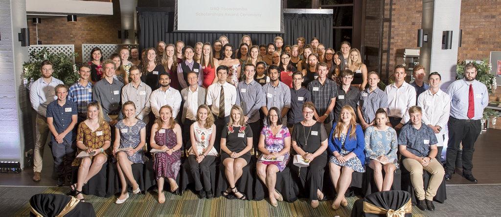 USQ scholarship recipients for 2018.