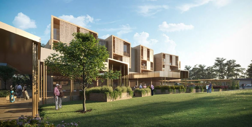 The proposed retirement village at the Toowoomba Middle Ridge Golf Club.