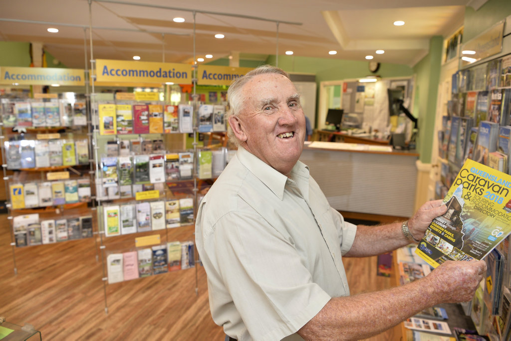Bruce Moore has resigned after volunteering for 30 years at Toowoomba Visitor Information Centre on James St, Friday, March 9, 2018.