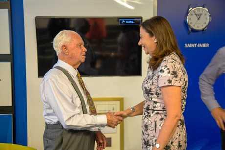Don Robertson meets Queensland Premier Annastacia Palaszczuk.