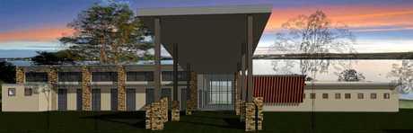 PLANS: The proposed new church at Bokarina.