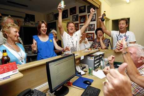 Cairns Regional Council councillor Julia Leu celebrates with Douglas council de-amalgamation after the community voted to leave Cairns.