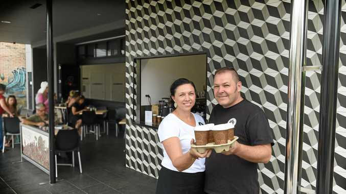 QUICK LUNCH: La Baracca owners Steve and Julianne Kreig have opened Ristretto on Molesworth St, which serves takeaway coffee and a healthy food options.
