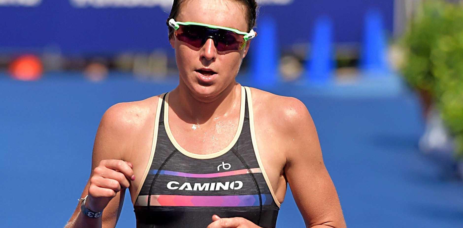 GEARED: Natalie van Coevorden, pictured at the Noosa Triathlon.