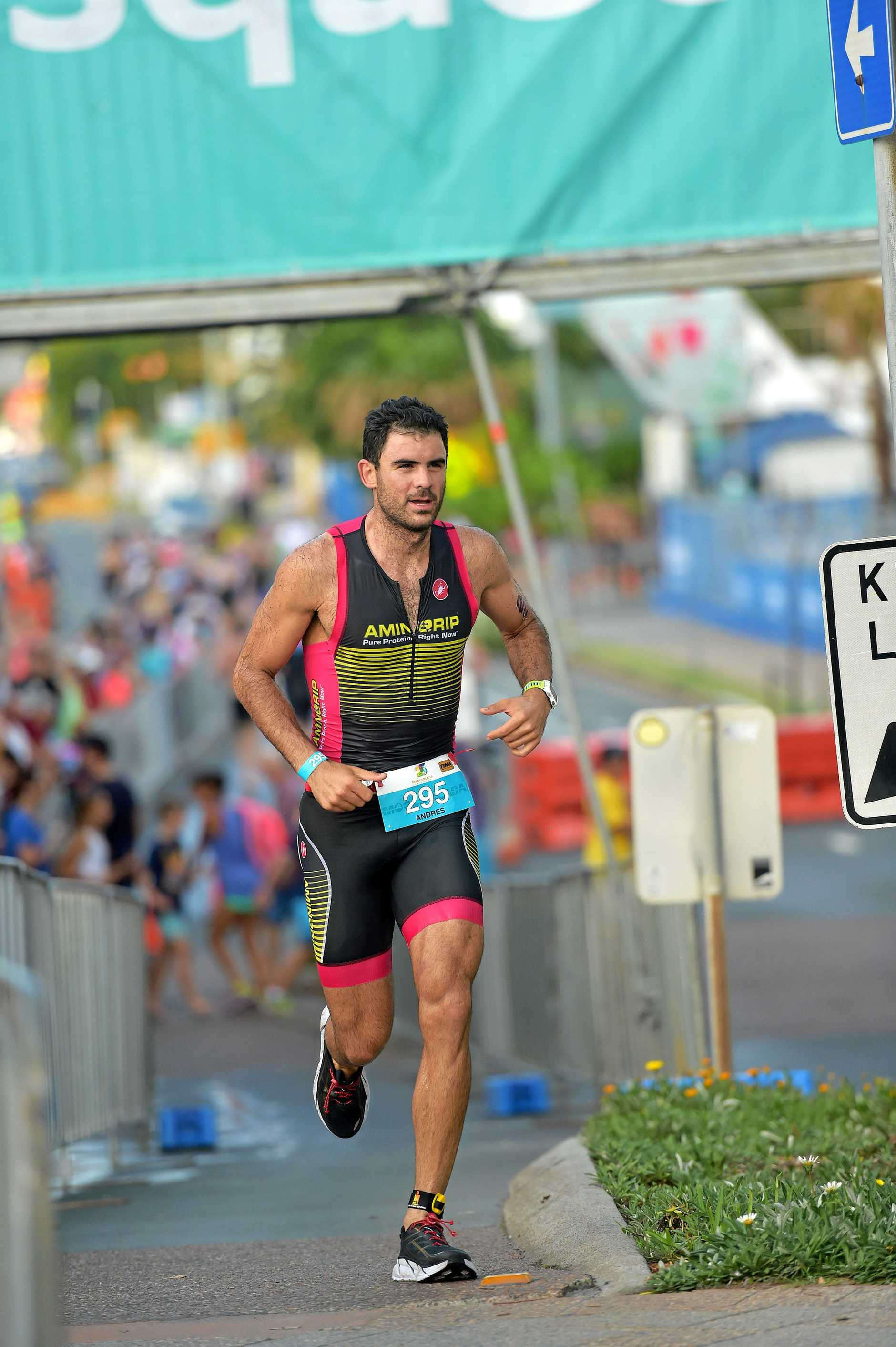 CROWD-PLEASER: More than 4000 people are set to compete in the open and age group categories of the Mooloolaba Triathlon on Sunday.