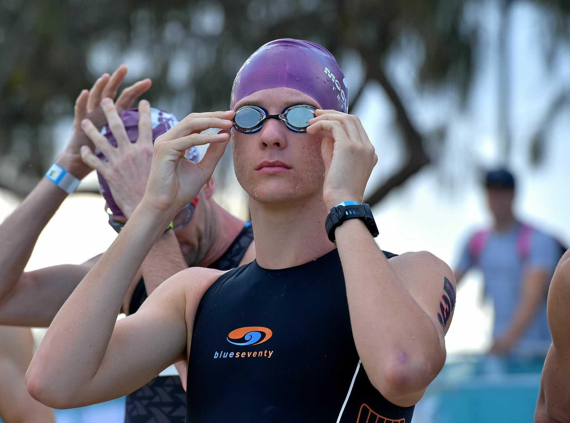 SPLASH: The ocean swim is a popular event.