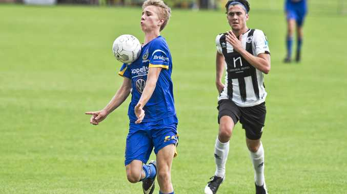 GOOD SKILLS: USQ player Cormac McCarthy takes control of the ball during his side's match against Willowburn last round. USQ play host to West Wanderers this round.