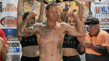 Toowoomba's Jamie Hilt at today's TGW & Smithy Brings the Big Fights 19 media weigh-in.