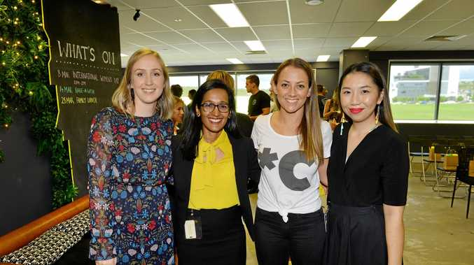 International Women's Day event at Little Tokyo Two in Springfield Central. Sam Brown, Raynuha Sinnathamby, Emma Lewis and Amy Chow.