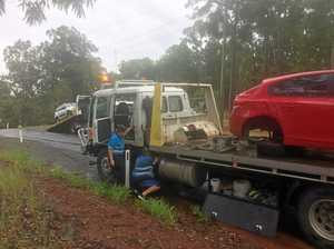 Wet and slippery crash north of Gympie