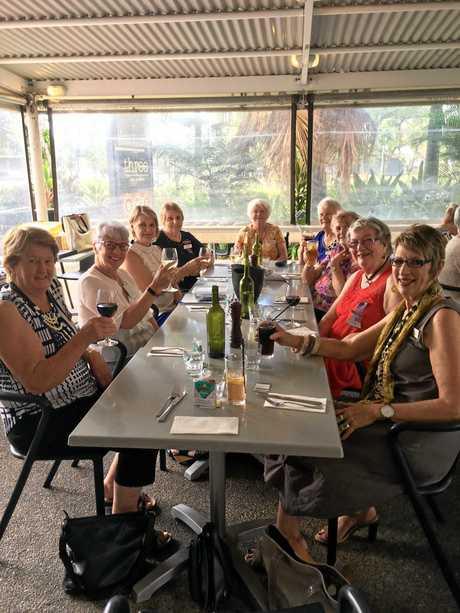 Caloundra Evening VIEW Club members celebrate International Women's Day.