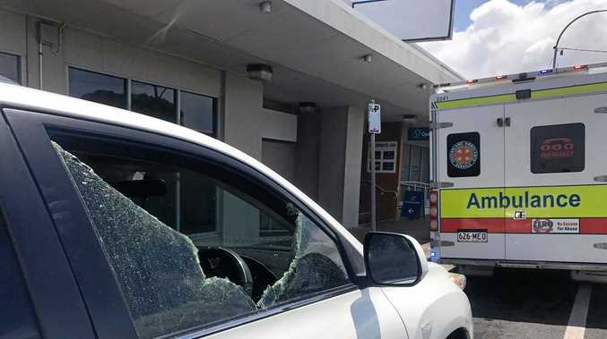 Police smashed the window to free the baby.