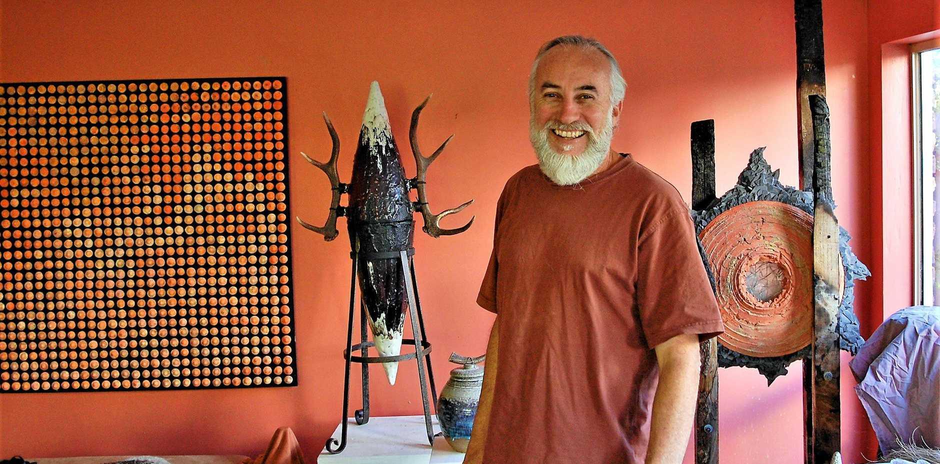 LIFE-LONG ADVENTURE IN ART: Sculptor Michael Wootton in his studio.