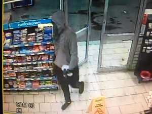 Police on hunt for man after service station hold up