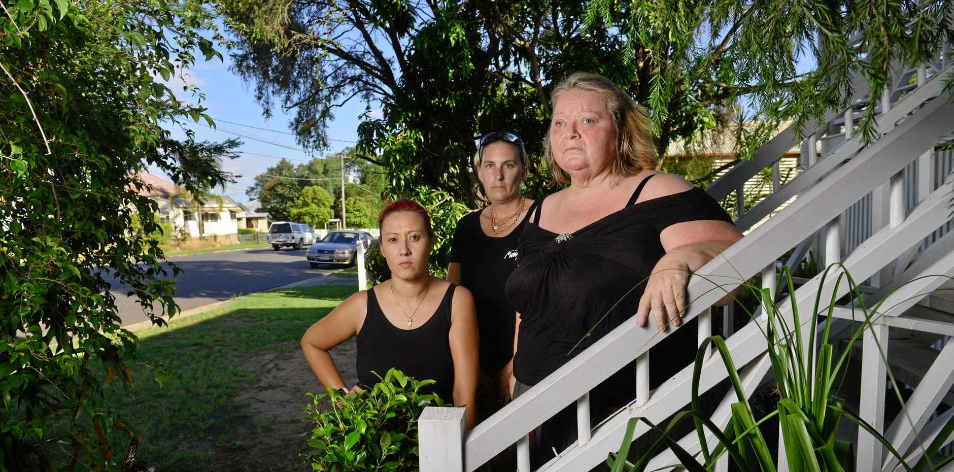 CRIME FIGHTERS: Leichhardt, One Mile and Wulkuraka Community Group memebers from left, Alyson Brimecombe, Michelle Hetherington and Chris Radke are fed up with the crime in their suburb.
