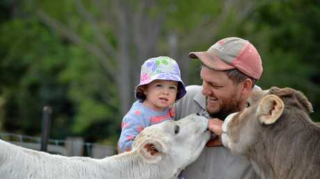 Keeva and Jeremy Josefski on the farm. Photo Renee Pilcher / The Gympie Times