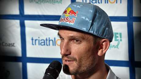 Mooloolaba ITU World Cup press conference. Richard Murray.