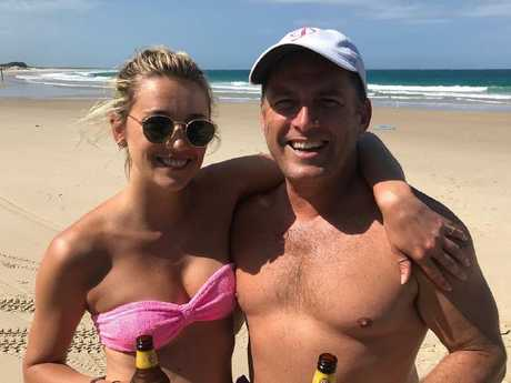 Karl Stefanovic and his partner Jasmine Yarbrough. Picture Instagram
