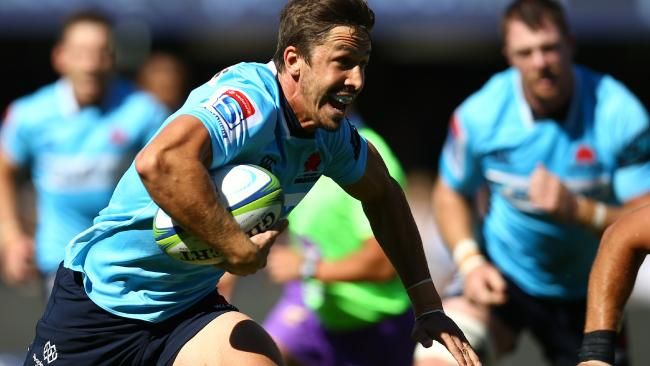 Jake Gordon on the run for the Waratahs.