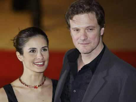 Colin Firth with wife Livia in 2003. Picture: Supplied