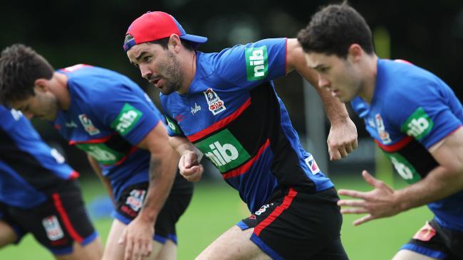 New recruit Aidan Guerra during Newcastle training.