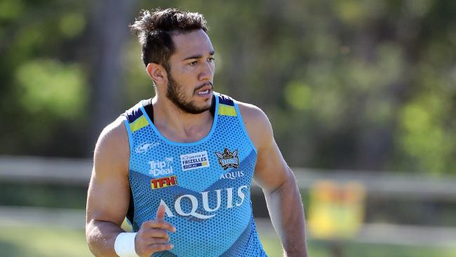 Former Titan Nathaniel Peteru is not set for a return, despite being on the Gold Coast. Picture: Richard Gosling