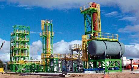The Linc Energy underground coal gasification pilot plant at Chinchilla.