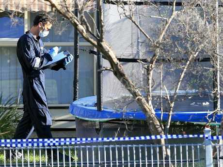 Police investigate the death of an eight-year-old in Tootgarook. Picture: Mark Stewart