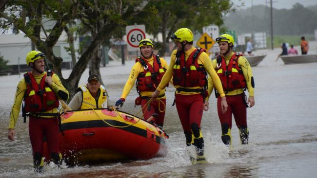 A Queensland Fire and Emergency Service swiftwater rescue team were called into action about 3pm to rescue a man trapped in a home on Dalrymple St, Ingham.