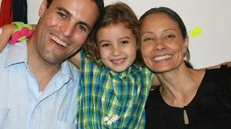 Marina and Kevin Krim with their daughter Lucia (known as Lulu) months before she was murdered with her baby brother Leo in 2012. Picture: Supplied