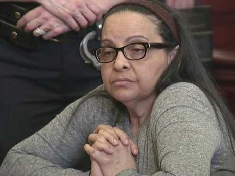 Yoselyn Ortega listens to court proceedings during the first day of her trial at Manhattan Supreme Court in New York on March 1, 2018. Picture: WYNY-TV/Pool Photo via AP