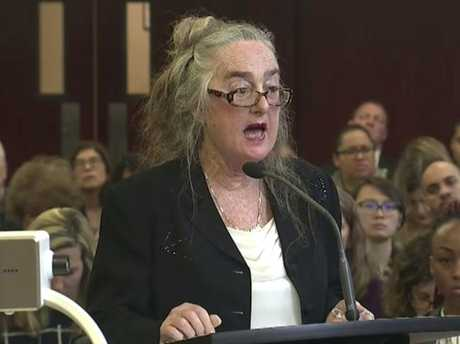 Defence lawyer Valerie Van Leer-Greenberg addresses the jury in the trial of Yoselyn Ortega. Picture: WYNY-TV/Pool Photo via AP