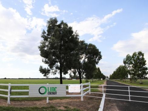 The contaminated Linc Energy site in the Hopeland district. Picture: Jessica Flynn
