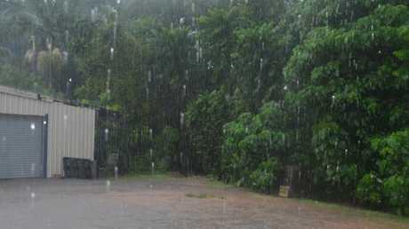 Raining in Ingham in the Herbert River Express carpark. Picture: Lillian Altman