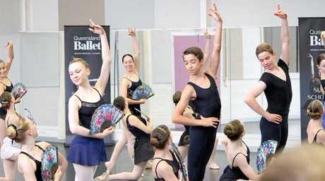 Cormac McDonald at the Queensland Ballet Academy.