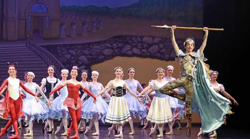 RISING STAR: Cormac McDonald as Prince Triton in the Ballet Theatre of Queensland's production of The Little Mermaid.