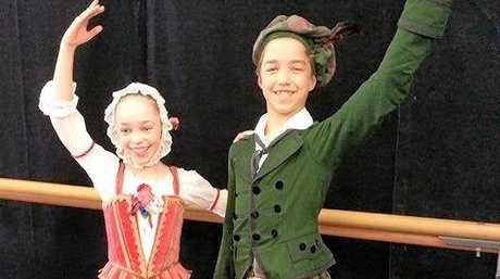 Cormac and his dance partner practise for La Sylphide.