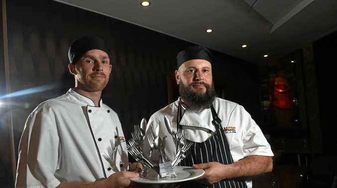 Sports Club Head Chef Matthew Brown and Lismore Workers Club chef Murray Donkin are looking forward to following up on the success of last year at the food festival where they came away with first for their signature dish.