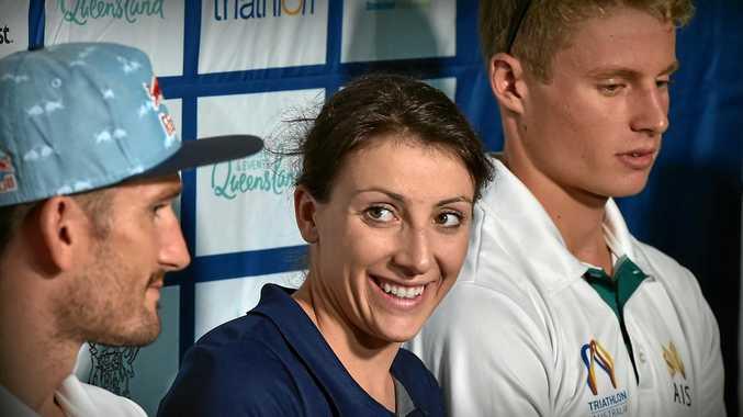 Mooloolaba ITU World Cup press conference. Kirsten Kasper.