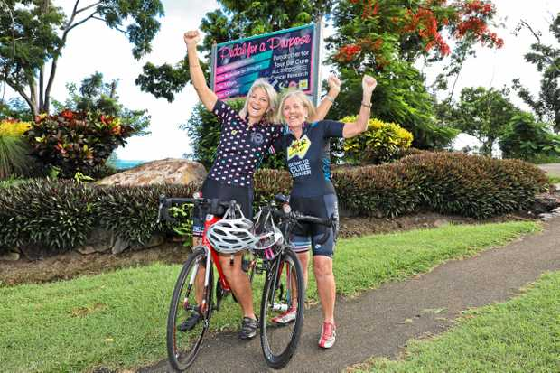 Whitsunday locals Woody and Shona are riding for a cure