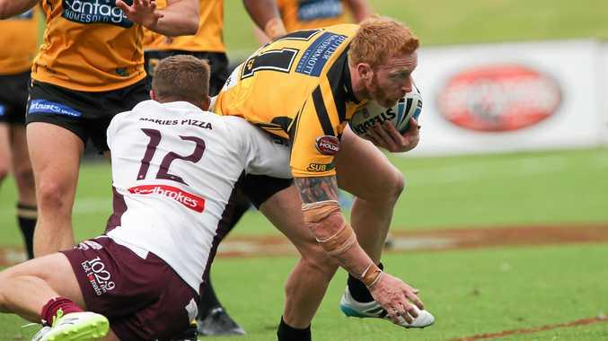 IN ACTION: Sunshine Coast captain Dane Hogan.