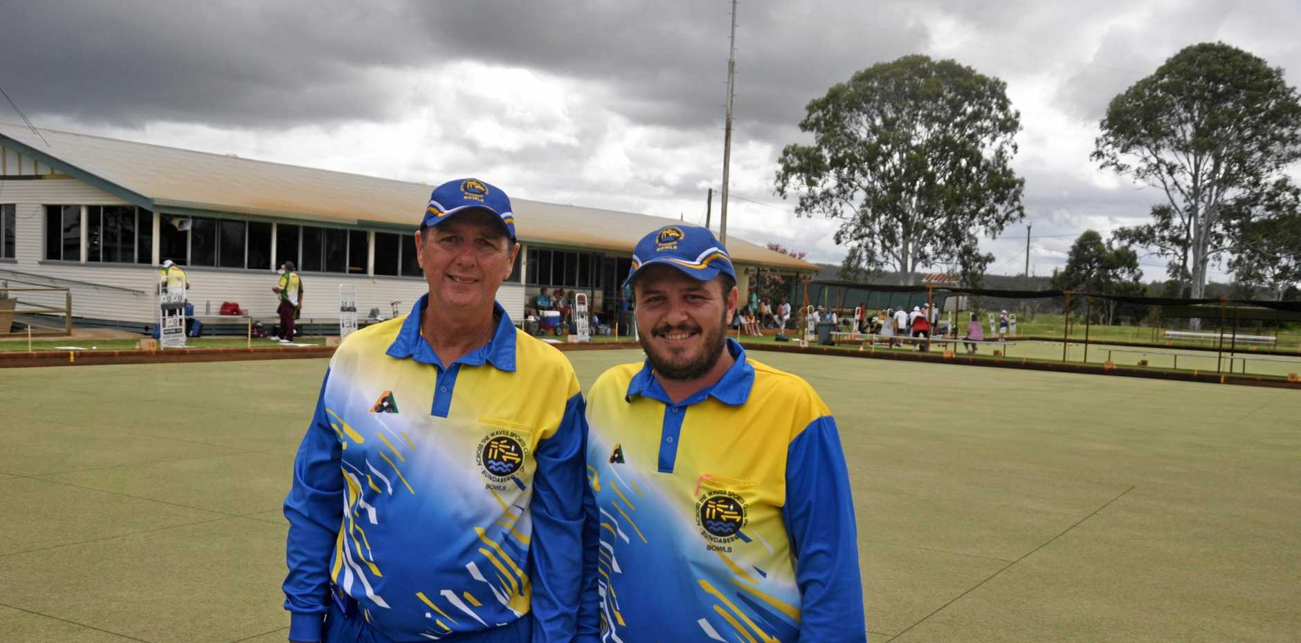 BIG LEAGUES: Former state and national champion Kurt Brown (left) represented Bundaberg in the Monto Pairs Open.