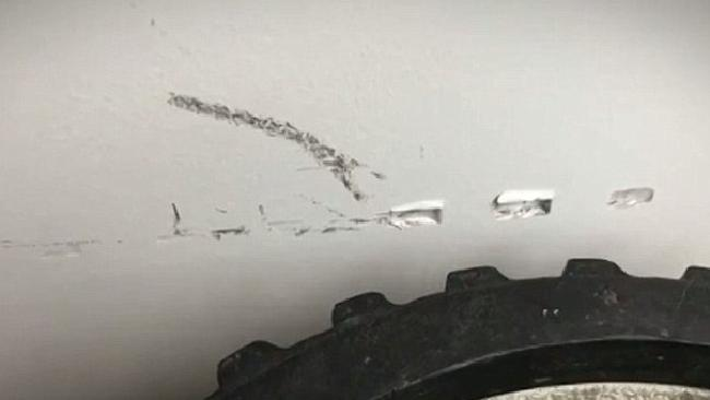 A Brisbane landlord claims the Irish posse left holes in her walls. Source: Seven News.