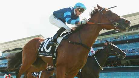 Aylmerton secured its spot in the Golden Slipper with victory in the Todman Stakes. Picture: Getty Images
