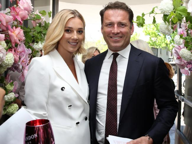 Jasmine Yarbrough and Karl Stefanovic at a fundraiser. Picture: Jane Dempster