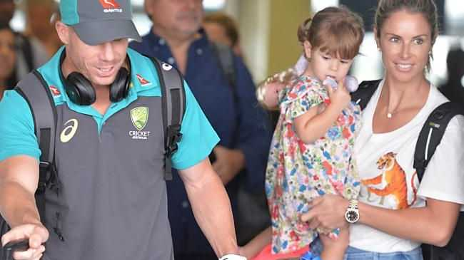 David Warner defended his wife in the first Test.